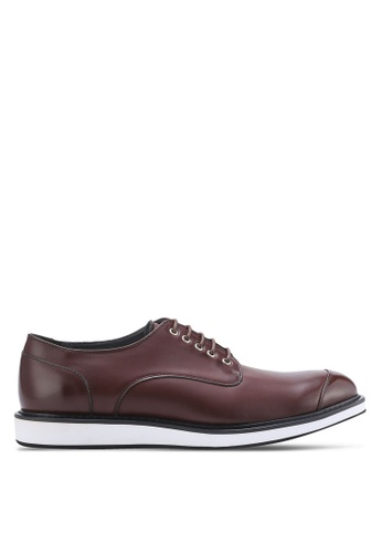 ZALORA brown Contemporary Oxford Dress Shoes 6893DAAA92D8D2GS_1