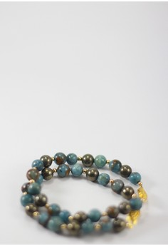 Japura Blue Stone and Gold Bracelet