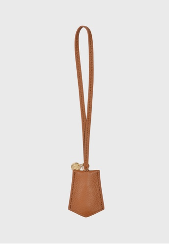 Tocco Toscano brown Aimee Lumine Leather Bag Charm (Camel) 5A171ACE189E3CGS_1