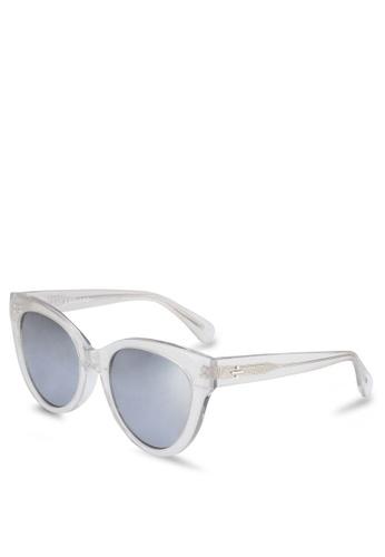 BLANC & ECLARE white Los Angeles Sunglasses 93869GLDB33F12GS_1
