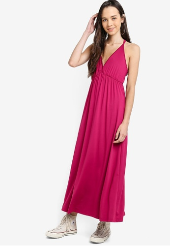 db5879a77d9f Shop Something Borrowed V-Neck Jersey Maxi Dress Online on ZALORA  Philippines