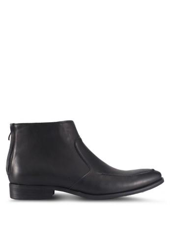 ZALORA black Faux Leather Chelsea Boots 7A90DSH140DA02GS_1
