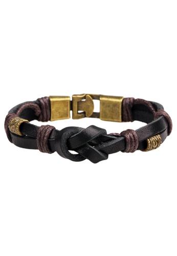 HAPPY FRIDAYS Vintage Leather bracelet QNW2229 C2F9DAC98630B2GS_1