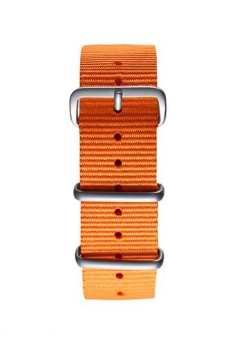 NATO霧面銀橙色錶帶esprit 內衣, 錶類, 其它錶帶
