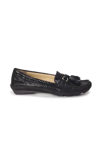 Shu Talk 黑色 AMAZTEP 輕便簡約流蘇樂福輕便鞋 84FEBSHE0CB8E5GS_1
