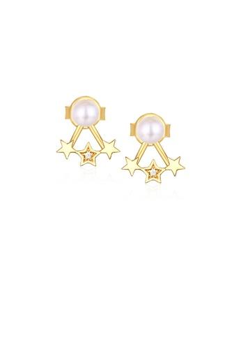 SUNSET gold Premium 925 Sliver Pearl Earring 70C0BAC4F3E5D8GS_1