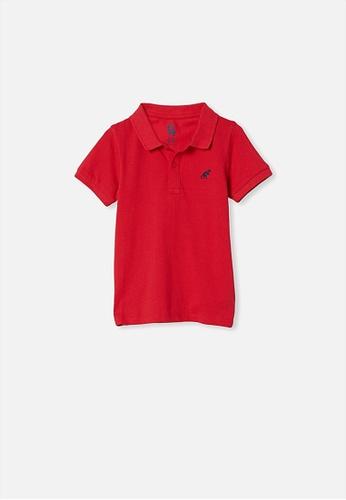 Cotton On Kids red Kendricks Polo 2DC77KAE926DC9GS_1