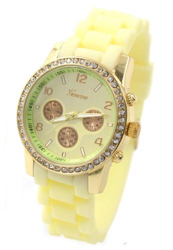 World of Watches yellow Geneva Marisse Women's Silicon Strap Watch WO566AC10CBPPH_1