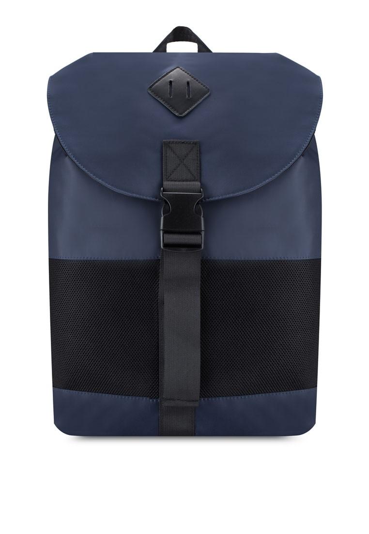 Mesh Paneled Drawstring Backpack