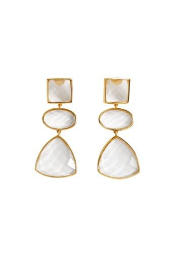 Mango gold Pendant Crystals Earrings ED042ACEF7A60FGS_1