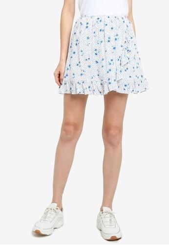 Supre white Alana Frill Wrap Skirt CC9CCAA33BAA79GS_1