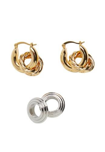 Mango gold Combinable Hoop Earrings D4B19AC27AC44AGS_1