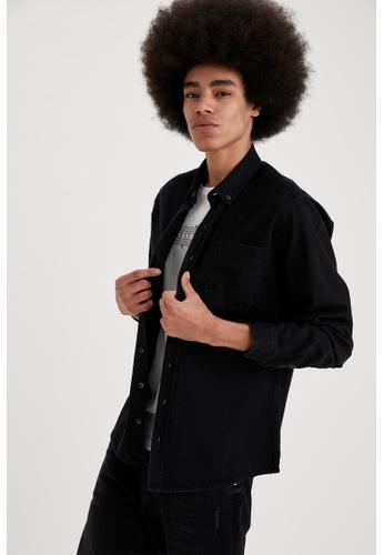 DeFacto black Long Sleeve Cotton Shirt 103E1AABF91757GS_1