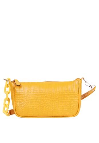 Quincy Label yellow Tas Wanita Aligator Filisia Sling Bag - Yellow 7C96BACC812D80GS_1