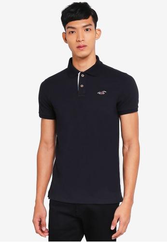 Hollister black Core Icon Solid Polo Shirt 37B83AA703995DGS_1