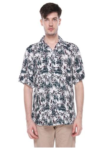 Dyllon white Dyllon Hawaiian Printed Shirt 60DA8AA2064969GS_1
