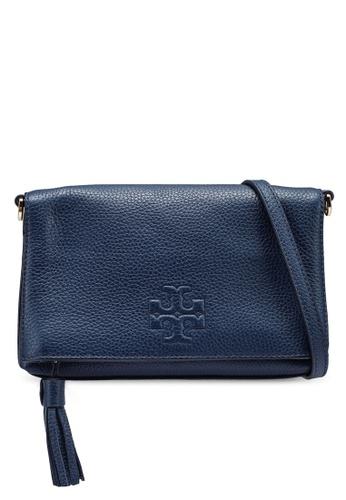 TORY BURCH 海軍藍色 Thea Mini Foldover Crossbody Bag (NT) 9E454AC5AC72FCGS_1