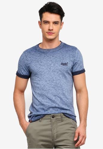 Superdry 海軍藍色 水洗刺繡T恤 B443AAACE7FCB3GS_1
