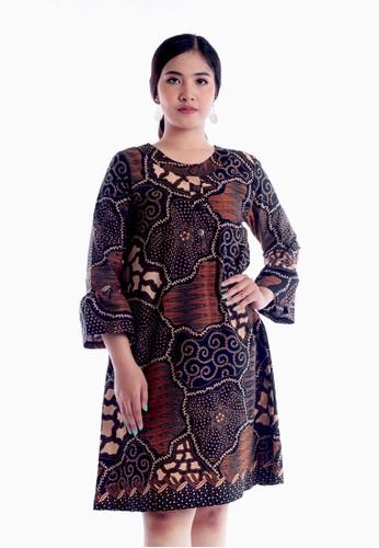 EAJA brown Akshaya Dress C6845AA6C2DC1DGS_1