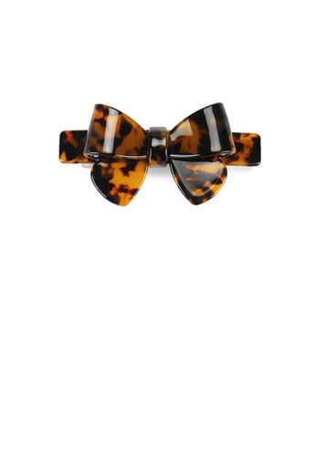 Glamorousky silver Fashion and Simple Tortoiseshell Ribbon Large Hair Slide 63755ACCD32185GS_1