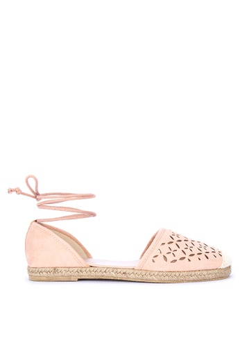 BENCH pink Cut-out Espadrille Sandals B081BSHDBAE5CAGS_1