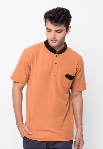 R U S S Bacon Light Brown Polo Shirt