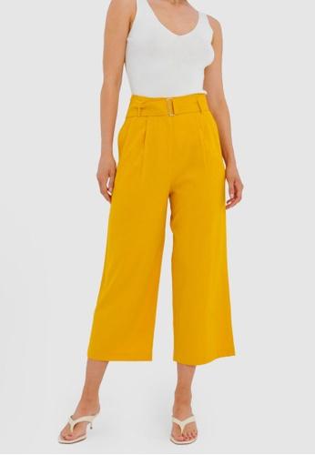 FORCAST yellow Kira Belted Pants CEE1EAA3E27DBEGS_1