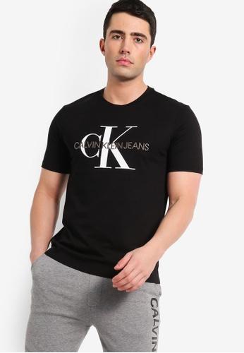 Calvin Klein 黑色 刺繡短袖T恤 9DFC9AA0CA1CFEGS_1