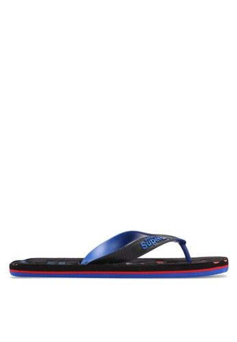 Superdry black and blue and multi Scuba Faded Flip Flops 07786SH4E153E8GS_1