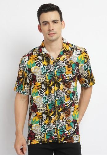 Poshboy black and multi Poshboy Alava Shirt Black 8789CAA1C86998GS_1
