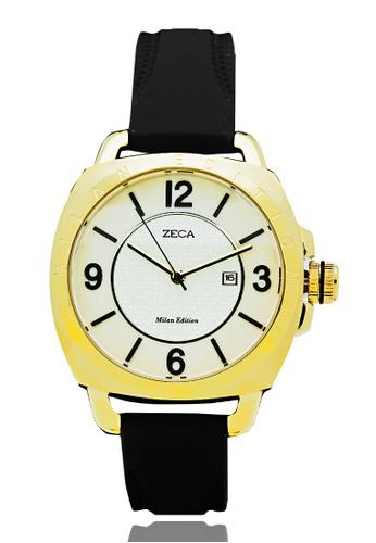 ZECA black Zeca Watches Ladies Fashion - 1006L Black Gold ZE260AC0GZF7SG_1