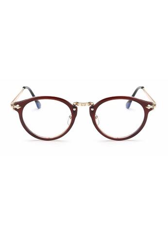 Kyfer's Eyewear & Essentials brown and gold Oversize Round Vintage Eyewear II KY376AC95JEISG_1