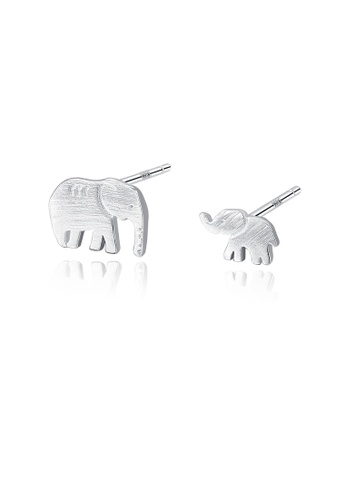 MATCH silver High quality Silver S925 silver elephant earrings 19968ACD01A3D3GS_1