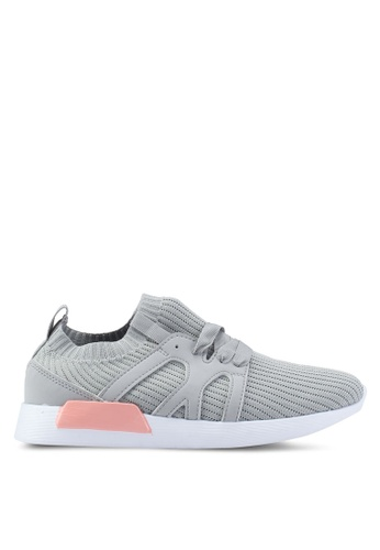 LC Waikiki grey High Sole Lace-Up Active Comfortable Sportive Sneakers With Pull Ring 581EESH6890CA0GS_1
