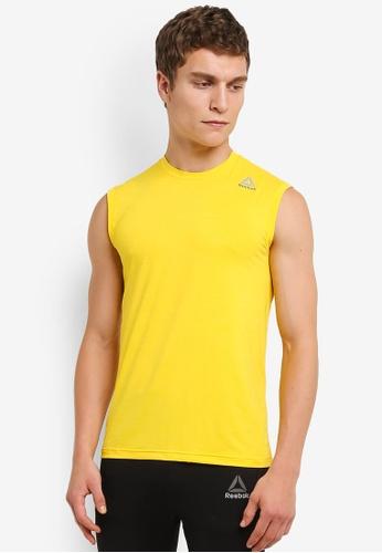 Reebok yellow Foundation Workout Ready Activchill Sleeveless Tee RE691AA0RTJBMY_1