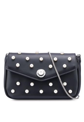 VINCCI black Shoulder Sling Bag 9E361AC2F93D05GS_1