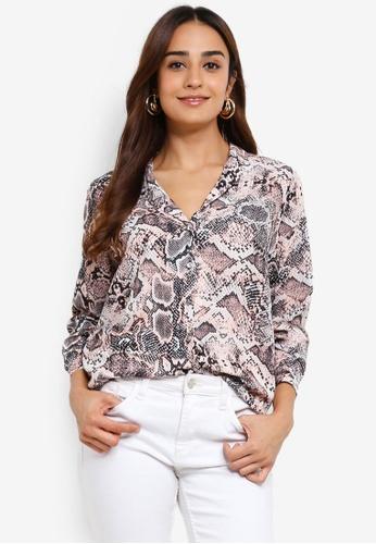 01cb1219a962e Buy Wallis Blush Snake Print Shirt