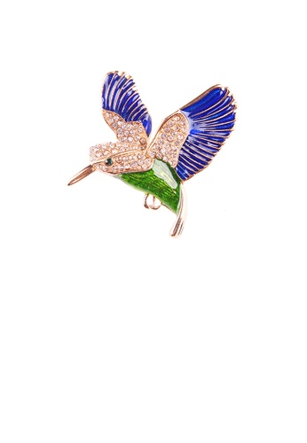 Glamorousky white Fashion Bright Plated Gold Enamel Blue Peace Dove Brooch with Cubic Zirconia 2956CAC3FEA44FGS_1