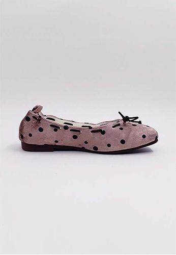 HERME MONY Japanese Velvet Flat Shoes 3A43ESH884386BGS_1