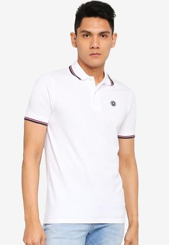 Jack & Jones white Noah Polo Short Sleeve Polo Shirt 0F69DAAFE9F0AAGS_1