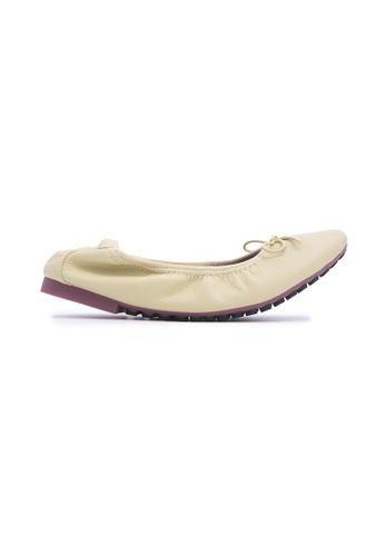 Flatss & Heelss by Rad Russel 米褐色 Soft Ribbon Flats - Beige C4DEFSHD34D873GS_1