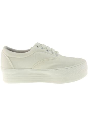 Maxstar white Maxstar Women's C40 5 Holes Platform Canvas Low Top Sneakers US Women Size MA164SH79PRGSG_1