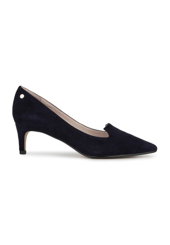 MAUD FRIZON navy Kid Suede Pointy Toe Pump With Stud Detail 2FA1DSH45A6880GS_1