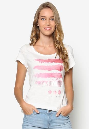 水彩刷寬鬆T 恤, esprit童裝門市韓系時尚, 梳妝