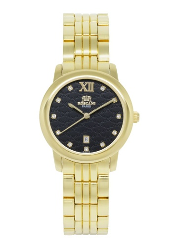 Roscani gold Roscani Grace B73 (Curved Crystal + Platinum Plating) Gold Black Bracelet Women Watch 49018AC05FA37BGS_1