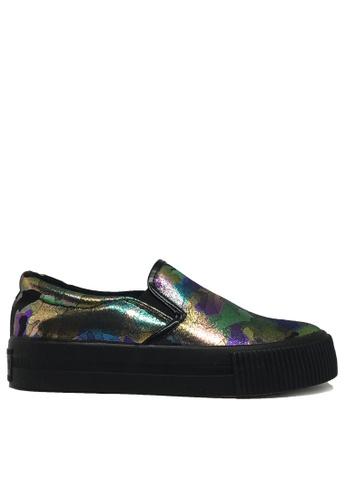 Twenty Eight Shoes black Camouflage slip-on TW446SH69PBIHK_1