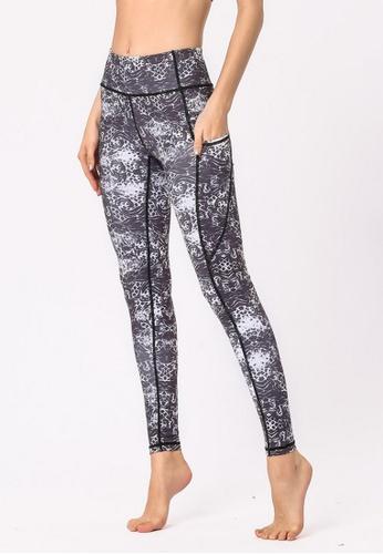 B-Code grey ZYG3031-Lady Quick Drying Running Fitness Yoga Sports Leggings -Grey 6053AAA8E1F31EGS_1