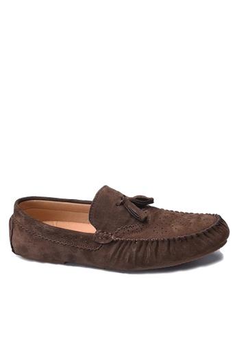 Twenty Eight Shoes 褐色 拷花真皮休閒鞋 VMC9880 AF5EASHFF87251GS_1