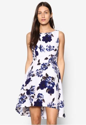 Coesprit台灣llection 印花不對稱洋裝, 服飾, 洋裝