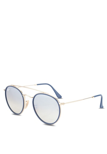 f9d3f4f77682 Buy Ray-Ban Round Double Bridge RB3647N Sunglasses Online on ZALORA  Singapore